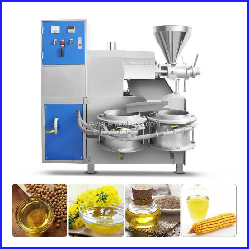 Stainless Steel High extraction rate 50%-55% flax seed cold oil press machine