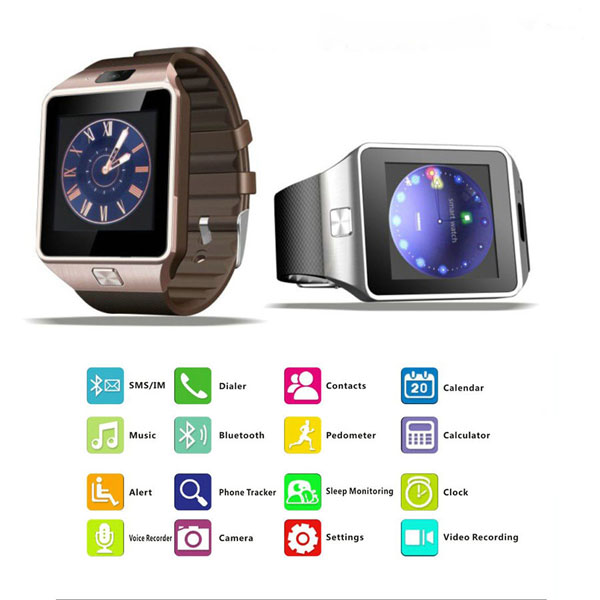 2019 China Factory Direct Android Smart Watch DZ09 Smartwatch Phone