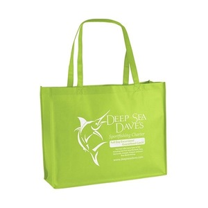 Promotional Cheap Heavy Duty Large Eco Friendly waterproof Shopper Tote Gift Bag recyclable grocery bag