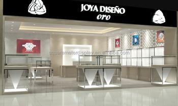 moderne 3d sieraden winkel interieur met gratis ontwerp