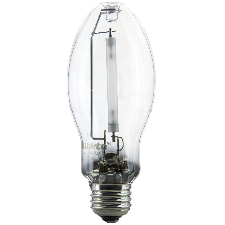 Sunlite 03615-SU LU100/MED 100 Watt HPS ED17  High Pressure Sodium Light Bulb, Medium Base, Clear