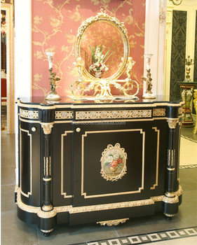 Luxury french louis xv gilt buffet sideboard cabinet for Miroir louis xv