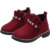 Fancy children martin boots Lace up girls princess shoes