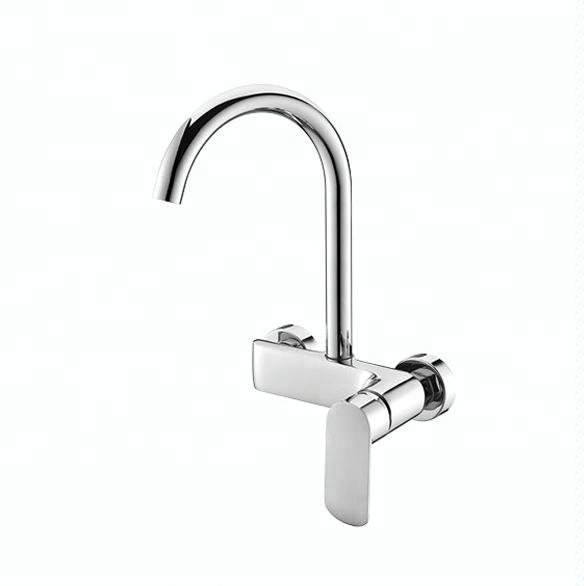 China Brass Sink Mixer Tap Hot Cold Wall Mounted Kitchen Faucet - Buy Wall  Mounted Kitchen Faucet,Spring Loaded Kitchen Sink Mixer Tap Faucets,Beige  ...