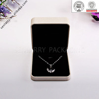 Promotional high-end handmade jewelry packaging with velvet insert