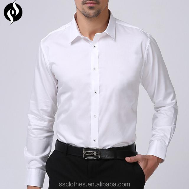 1767370136b 2017 Wholesale fashion mens pant shirt new style slim fit dress shirts men