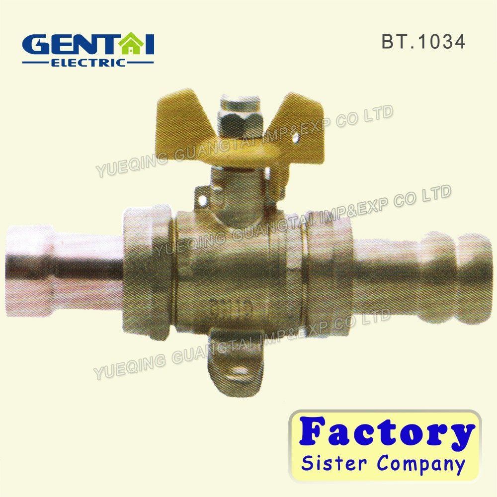 Supplier Angle Brass Needle Valve Gas Water Stop Ball Valve
