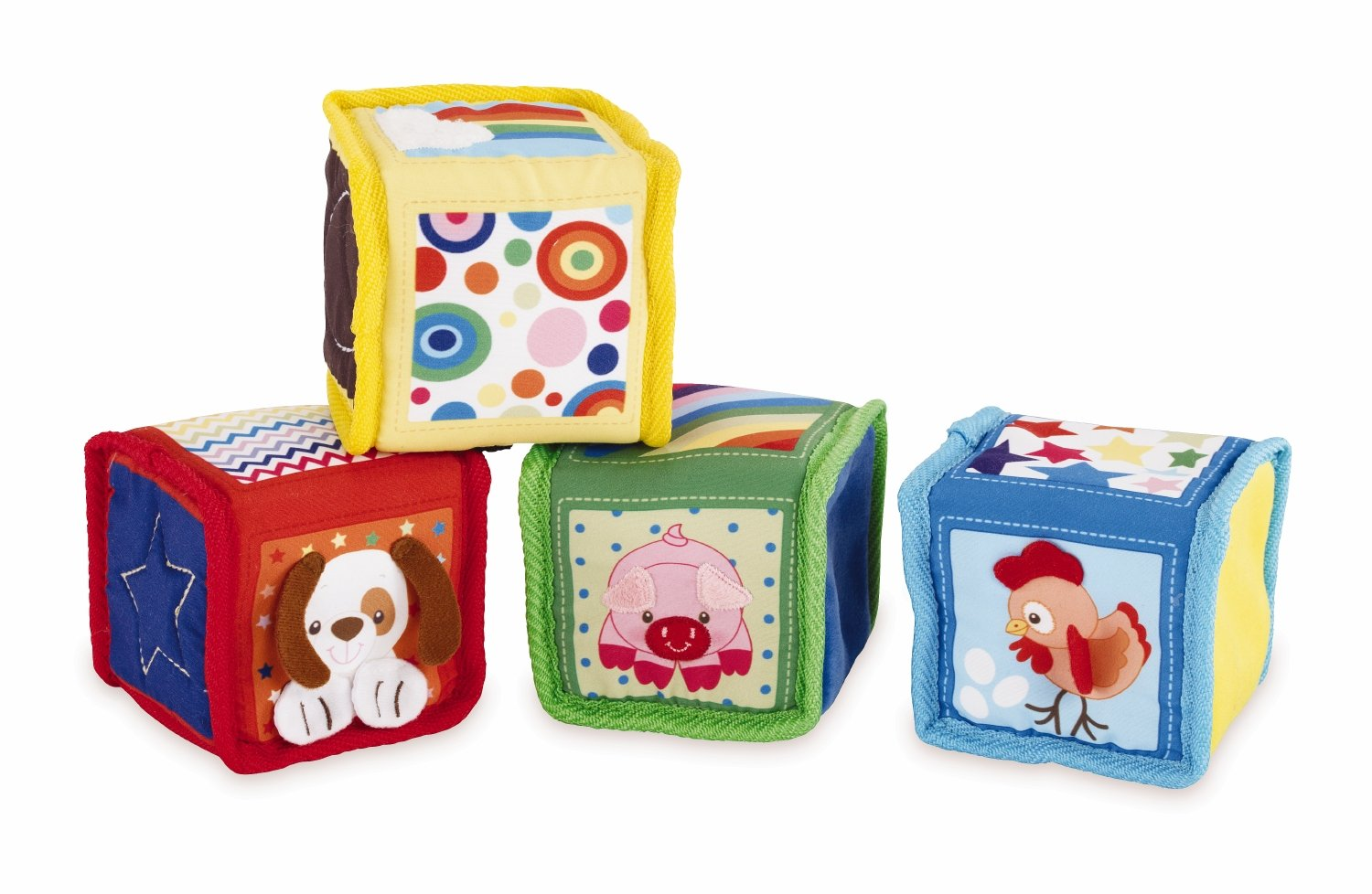 Earlyears Soft Baby Blocks with Pictures Textures, Patterns, and Sounds
