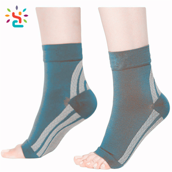 ed1414a108 Unisex 100 Acrylic compression foot sleeve ankle brace support wholesale plantar  fasciitis ankle pain treatment socks