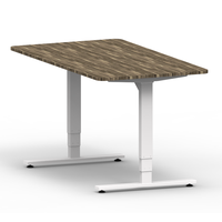 Luxury adjustable laptop computer desk table with metal base