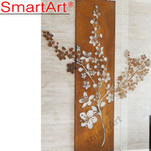 New design outdoor wrought iron wall art made in China
