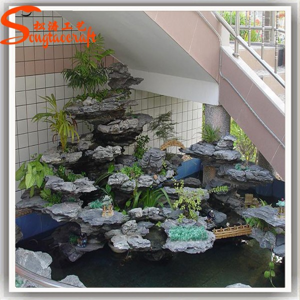 Indoor artificial decorativa cascada fuente otros for Jardin artificial interior