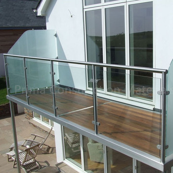 Classic Glass Stairs Railing Glass Railing Tempered Glass
