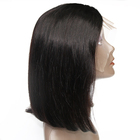 Virgin Aligned Cuticle Brazilian Human Hair Short straight Bob Lace Front Frontal Wig