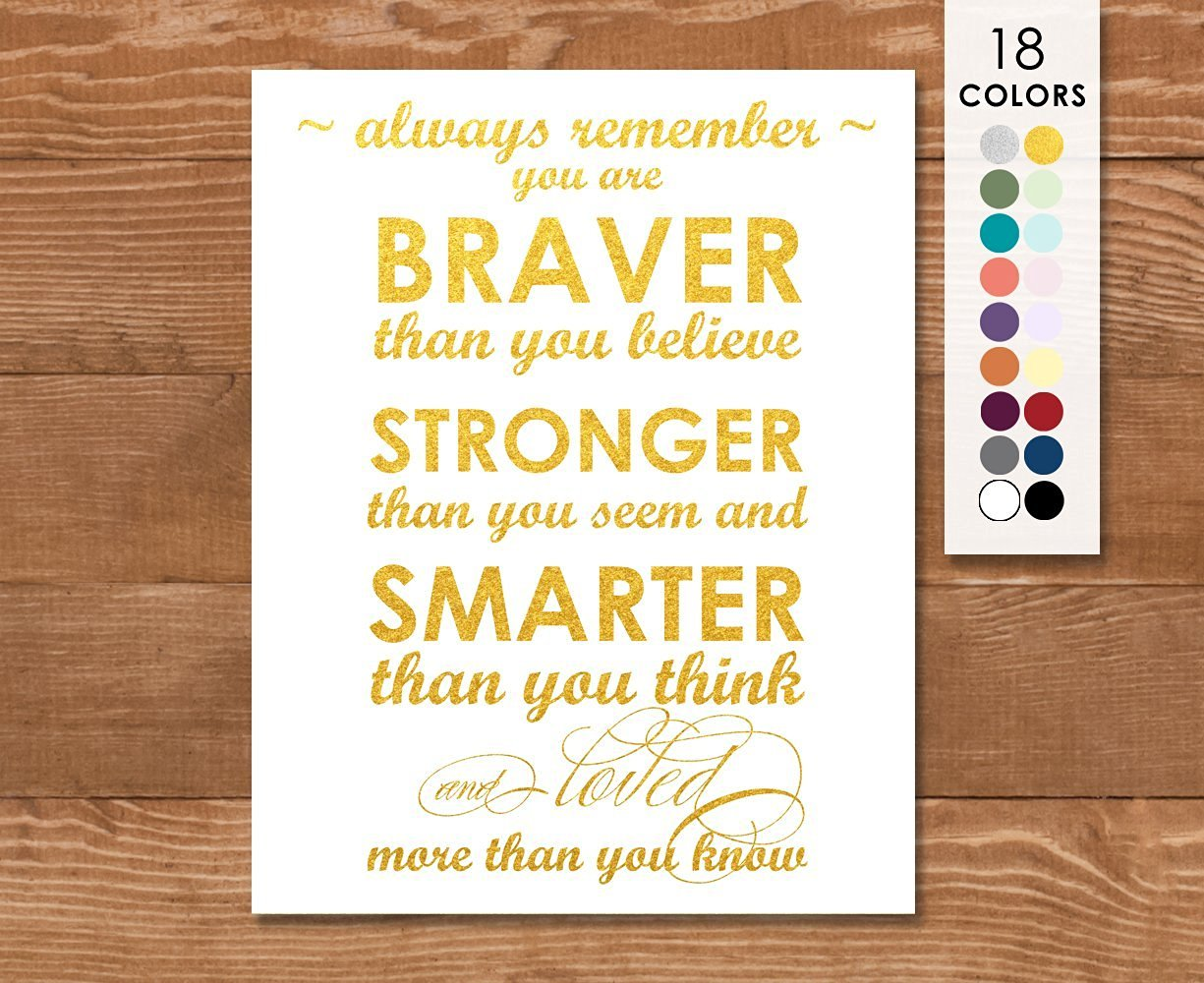Buy Art Print, Winnie the Pooh, Always Remember You Are Braver than ...