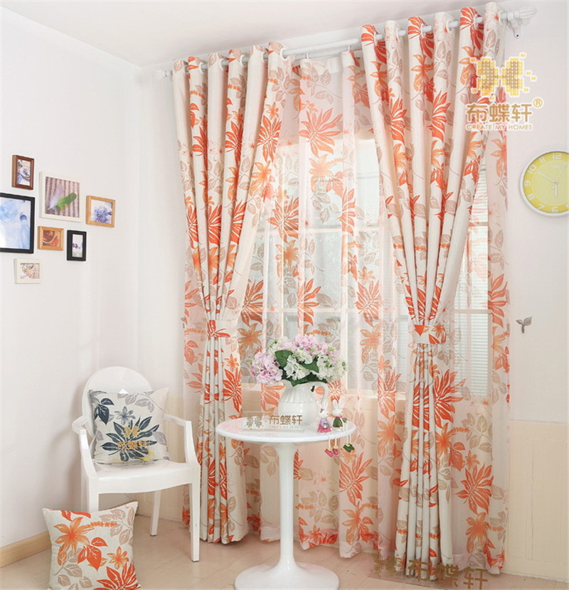 Orange Green Purple Room: Pastoral High Grade Cotton Linen Living Room Bed Room