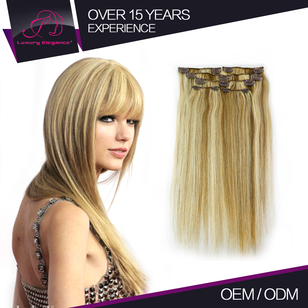 No Tangling Straight Clip In Hair Elegant Humman Hair Extensions Products Collection
