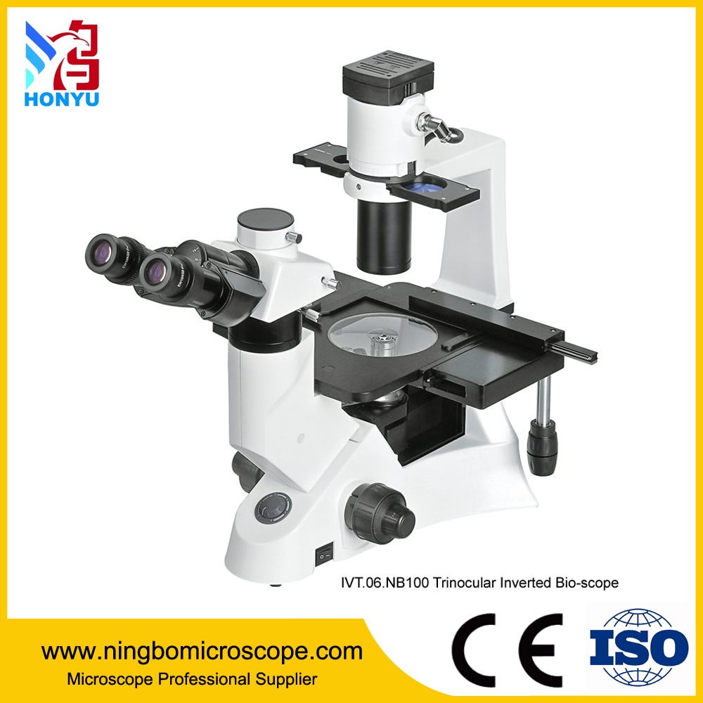 40x-400x Trinocular Phase Contrast Biological Inverted Microscope