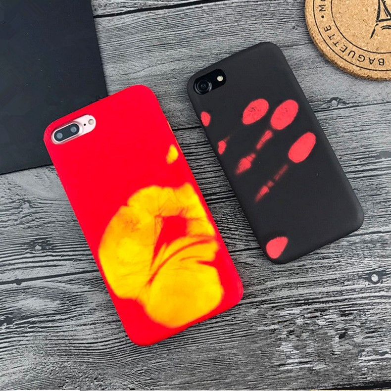 Popular item thermal heat sensitive inductive discoloration cellphone case for iphone 6 6 plus 7 7 plus 8 8plus phone case