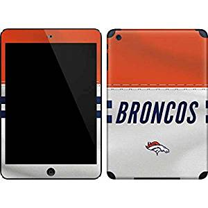 NFL Denver Broncos iPad Mini (1st & 2nd Gen) Skin - Denver Broncos White Striped Vinyl Decal Skin For Your iPad Mini (1st & 2nd Gen)