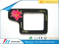 fashion black rectangle magnetic photo picture frame