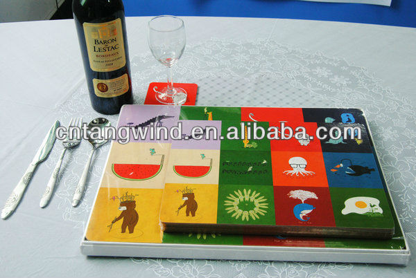 HOT SELLING WINE PLACEMAT -SET OF 2 FOR HOUSEWARE