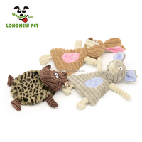 Super Soft Plush Rabbit Elephant Animal Pet Toy Squeaky No Stuffing Dog Toy