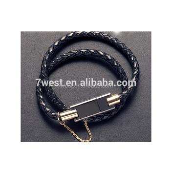 Leather Wristband Bracelet Chain