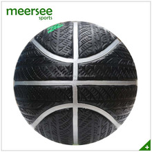 Official size 7 super grip natural rubber tire basketball