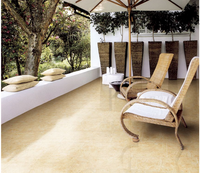 60*60 glossy surface unglazed porcelain polished tile layers double loading yellow cream mafil flooring kitchen tiles
