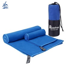 Absorbent Quick dry sand free custom logo microfiber sports gym towels