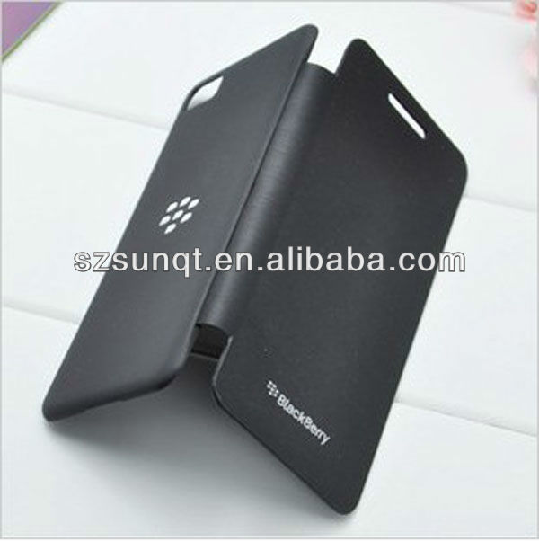Wholesale! PU Leather Battery Flip Case Cover For Blackberry Z10