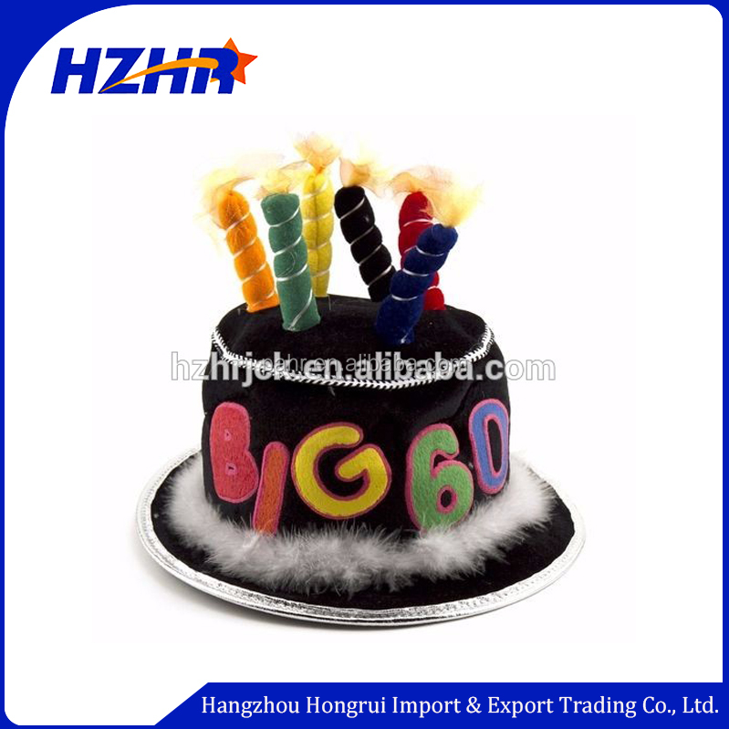 Adults And Kids Funny Happy Birthday Party Cake Hat With Candles