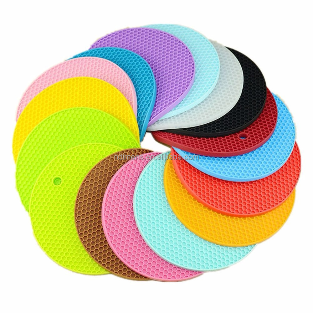 Custom Circle Anti-slip Cooking Mat Silicone Baking Mat