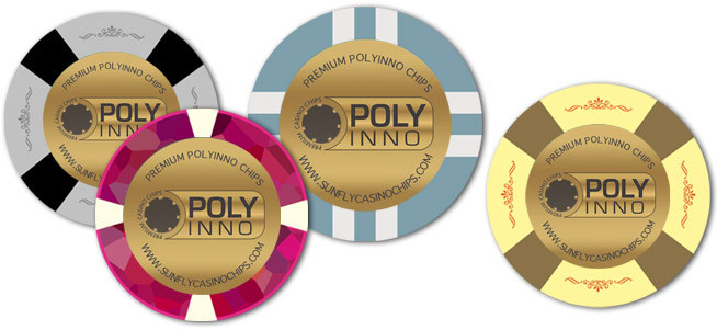 POLYINNO wholesale custom design CLay Texas holdem Casino Game poker chips