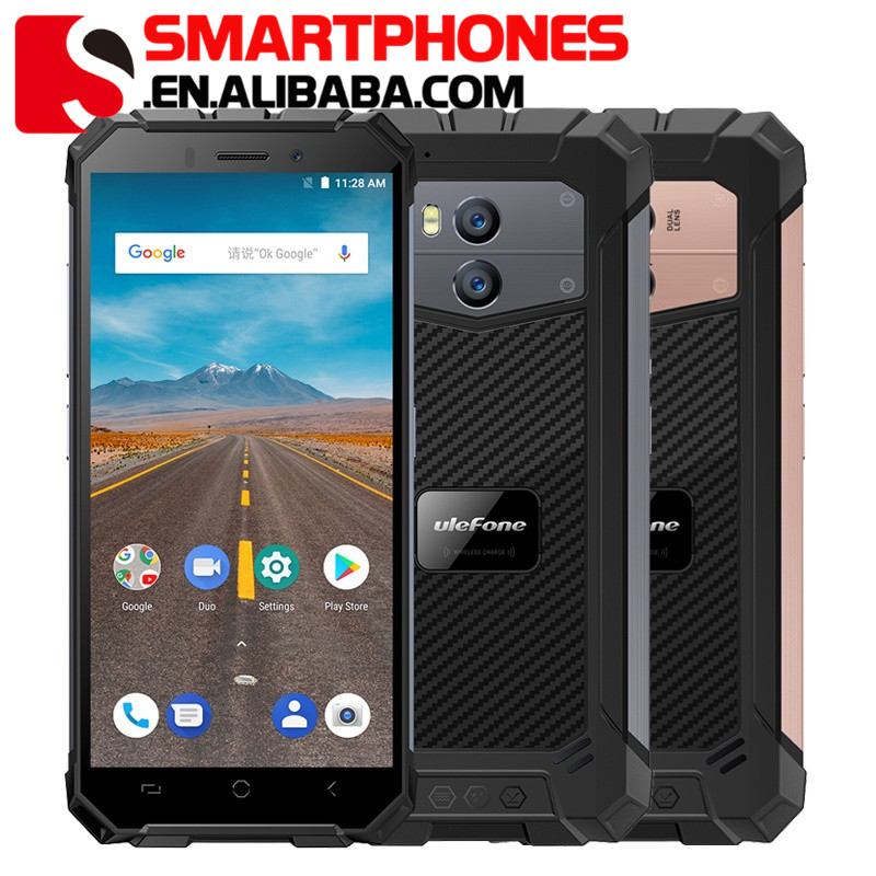Drop shipping china Ulefone Armor X 2GB RAM 16GB ROM Waterproof IP68 Smartphone 5.5 inch HD+ MTK6739 Android 8.1 4G rugged phone
