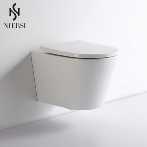 Bathroom Sanitary Water Saving Types Of Ceramic Wall Hung Toilet Bowl