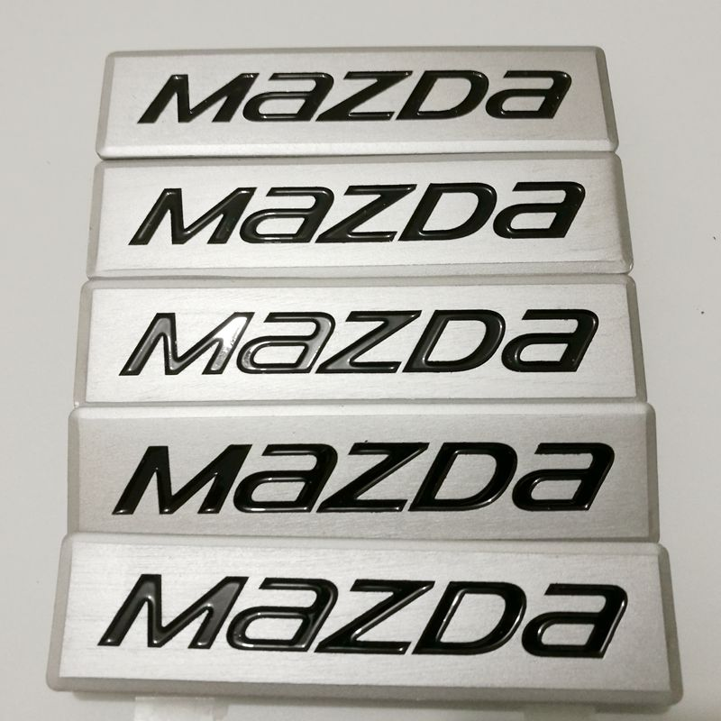 Custom Car Floor Mat Metal Emblems Badges Logo for Mazda
