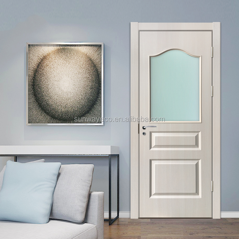 Iraq style apartment PVC lamination door for house decoration