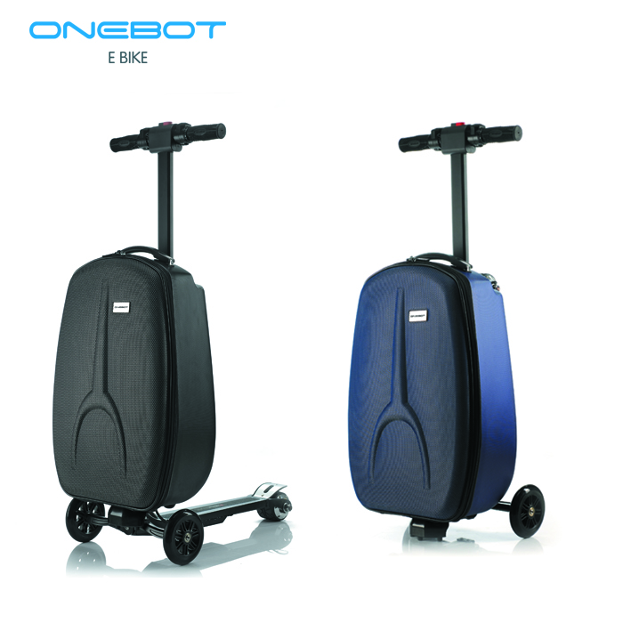 2017 new 3 wheels trolley folding luggage e scooter with high quality