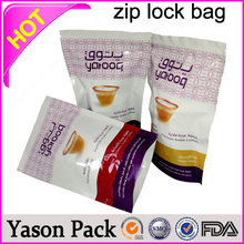 YASON zipper baby food bag plastic ziplock bags with hang hole plastic clear zipper pouch