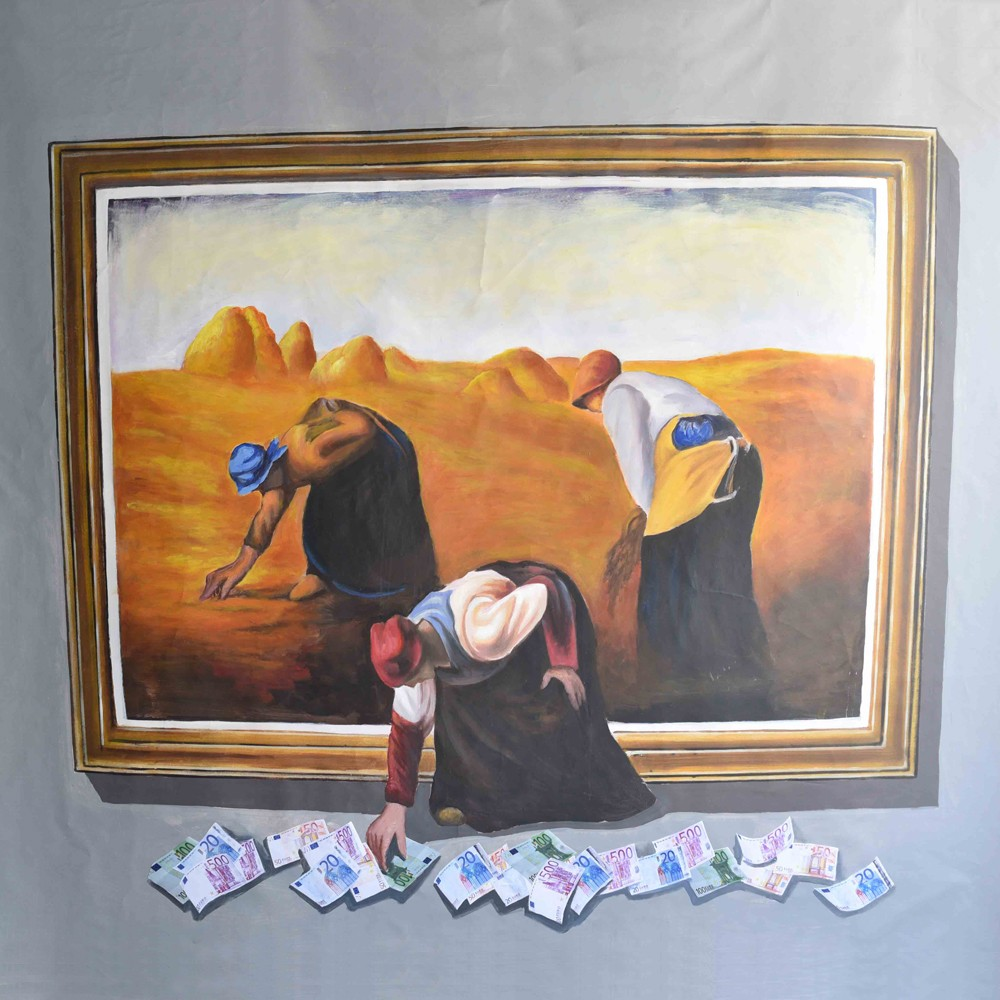 3D Wall Painting custom size handmade oil painting canvas 3d wall painting - buy 3d