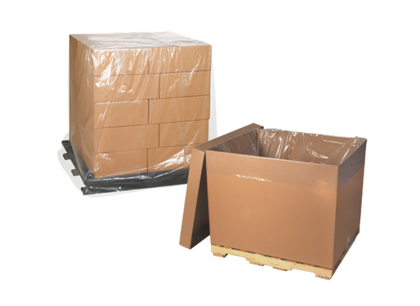 """RetailSource PC542x1 54 x 44 x 72"""" - 4 Mil Clear Pallet Covers, 7"""" Height, 54.5"""" Length (Pack of 25)"""