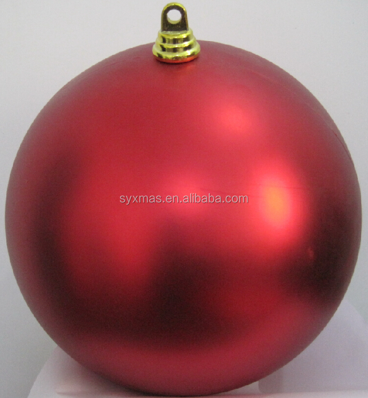 50cm large matte red plastic christmas balls