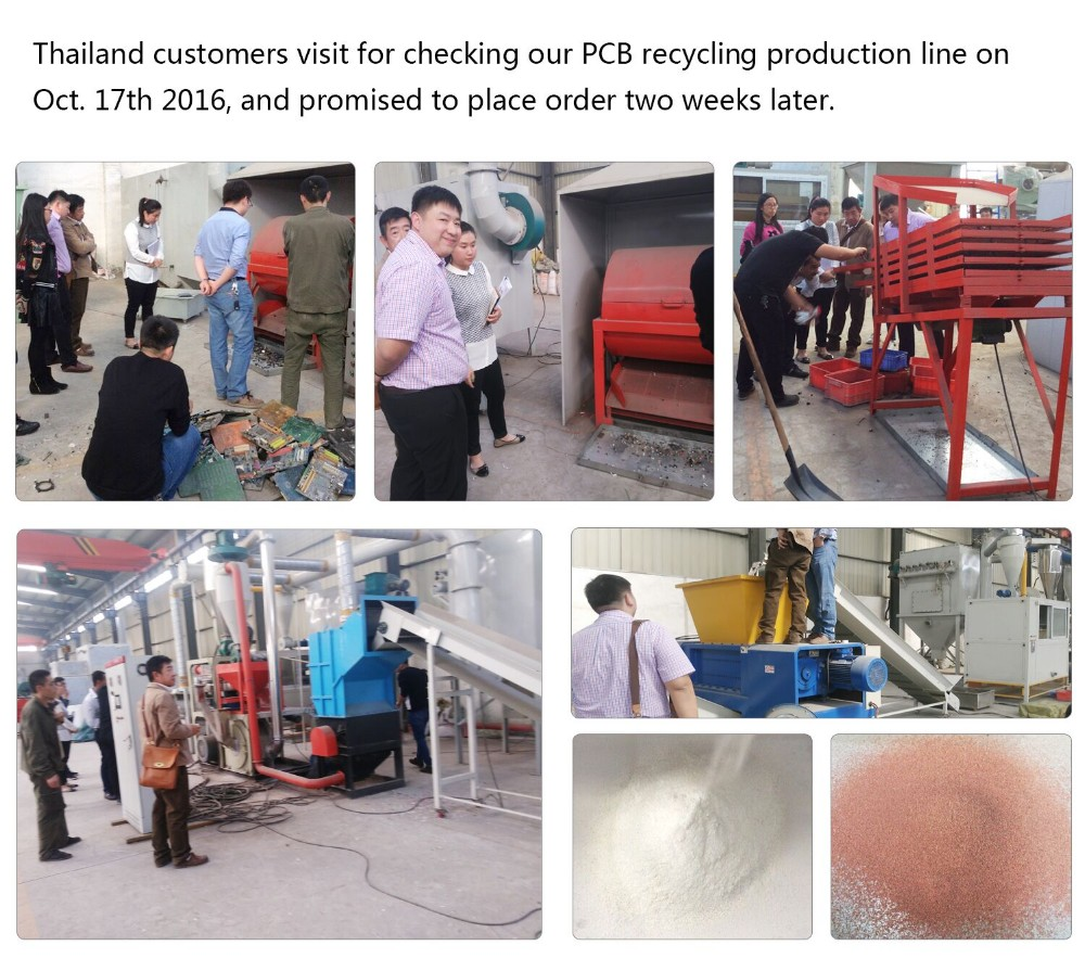 Dry Type Printed Circuit Board Recycling Machine Scrap Pcb Separate