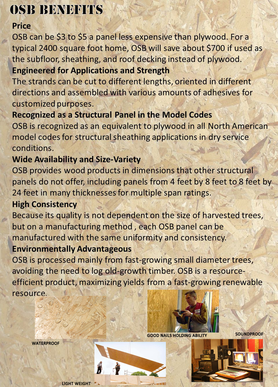 DURAOSB High-Quality Construction OSB3 And Furniture OSB3 Sheet