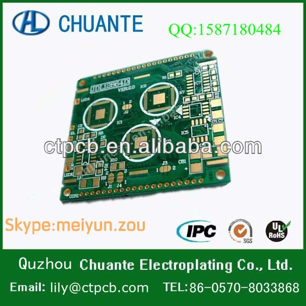 China double-sided green solder fr4 pcb for ipad mother PCB use