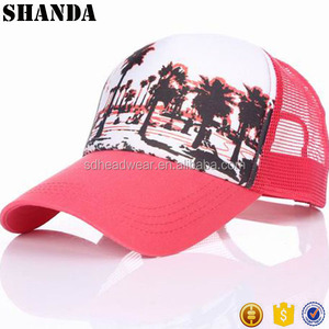 blank mesh baseball cap hard hat custom screen printed trucker hats