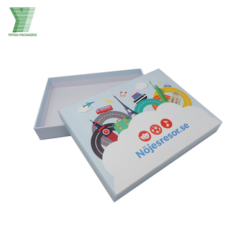 fancy printing custom logo lid and base paper apparel t shirt packing box