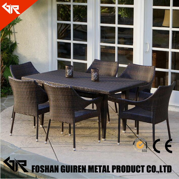 furniture dining room sets PE-rattan dining chairs and tables set